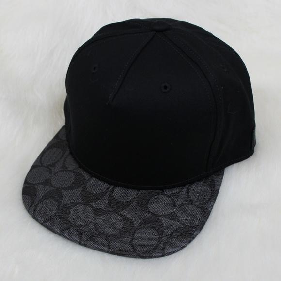 265ec1653bf NWT Men s Coach Flat Brim Hat - One Size